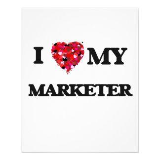 私は私のマーケティング担当者を愛します 11.4CM X 14.2CM チラシ