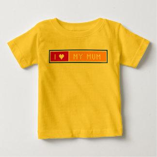 私は私のミイラのティーおよびベビーの服装を愛します ベビーTシャツ