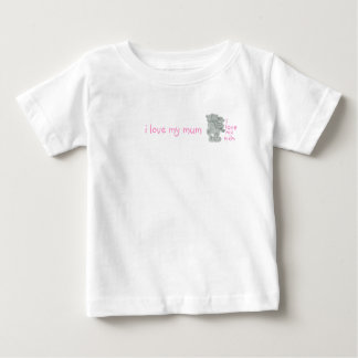 私は私のミイラを、私愛します私のミイラを愛します ベビーTシャツ