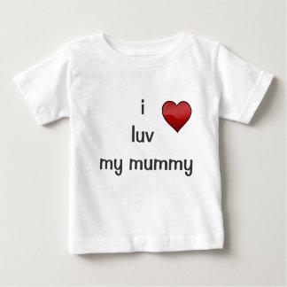 私は私のミイラをlove ベビーTシャツ