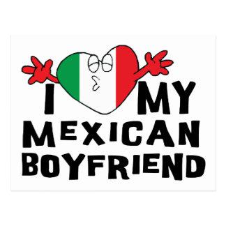 私は私のメキシコボーイフレンドを愛します ポストカード