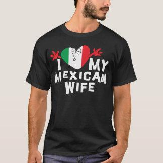 私は私のメキシコ妻のTシャツを愛します Tシャツ