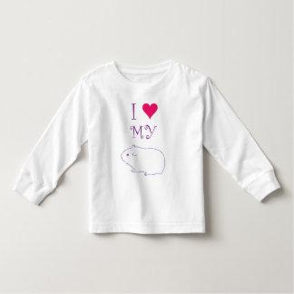 私は私のモルモットを愛します トドラーTシャツ