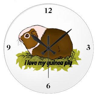 私は私のモルモットを愛します ラージ壁時計