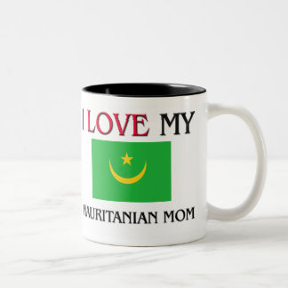 私は私のモーリタニアのお母さんを愛します ツートーンマグカップ