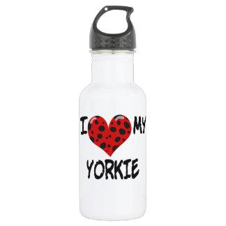 私は私のヨークシャーテリアを愛します ウォーターボトル