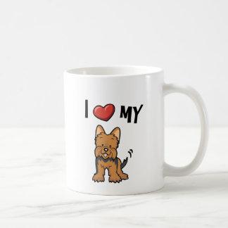 私は私のヨークシャーテリアを愛します コーヒーマグカップ