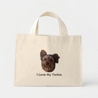 私は私のヨークシャーテリアを愛します ミニトートバッグ