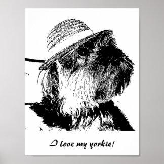 私は私のヨークシャーテリアを愛します! 価値ポスター ポスター