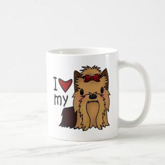 私は私のヨークシャーテリア、ヨークシャテリアを愛します コーヒーマグカップ