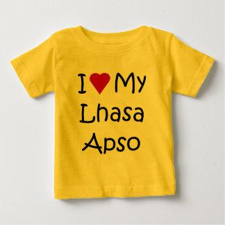 私は私のラサApso犬の恋人のギフトを愛します ベビーTシャツ
