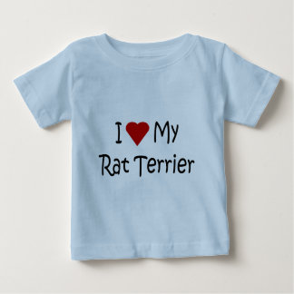 私は私のラットテリア犬の品種恋人のワイシャツを愛します ベビーTシャツ