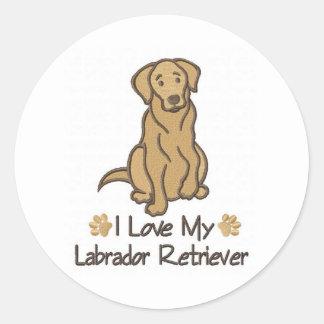 私は私のラブラドル・レトリーバー犬を愛します ラウンドシール