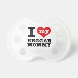 私は私のレゲエのダンスのお母さんを愛します 赤ちゃんおしゃぶり