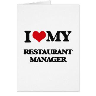 私は私のレストランのマネージャーを愛します カード