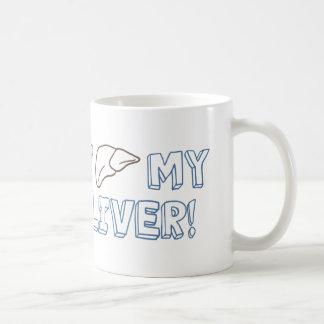 私は私のレバーを愛します コーヒーマグカップ