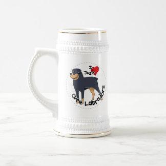 私は私のロットワイラー犬を愛します ビールジョッキ