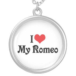 私は私のロミオを愛します シルバープレートネックレス