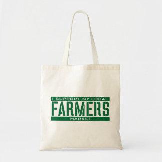 私は私のローカル農家の市場を支えます トートバッグ