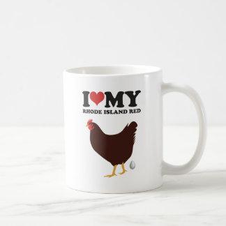 私は私のロードアイランド赤を愛します コーヒーマグカップ