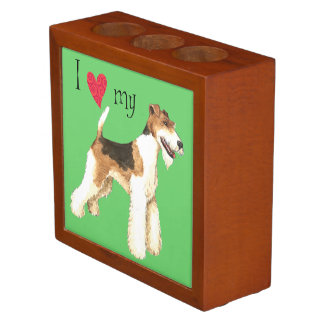 私は私のワイヤーフォックステリア犬を愛します ペンスタンド