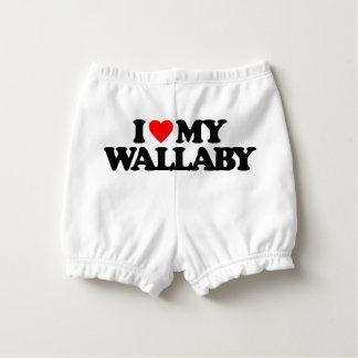 私は私のワラビーを愛します おむつカバー