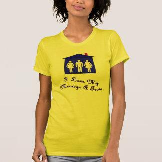 私は私の世帯をtrois愛します tシャツ