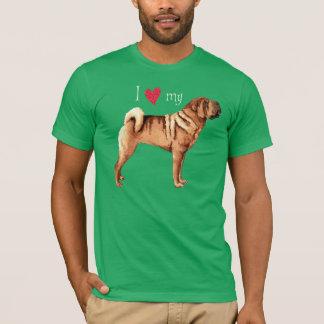 私は私の中国のなShar-Peiを愛します Tシャツ
