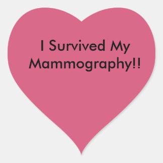 私は私の乳房撮影を生き延びました! ハートシール