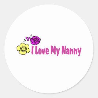 私は私の乳母を愛します ラウンドシール
