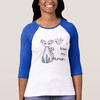 私は私の人間のかわいいTシャツを愛します Tシャツ