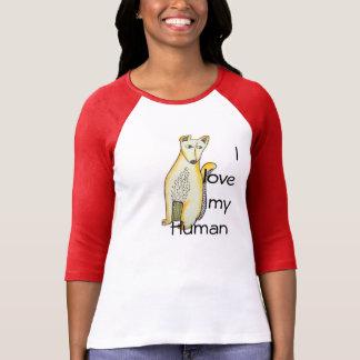 私は私の人間のTシャツを愛します Tシャツ