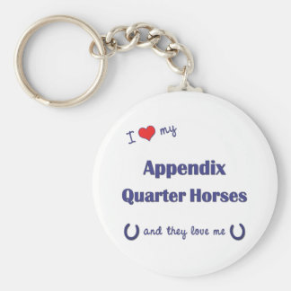 私は私の付録クォーター馬(多数の馬を愛します キーホルダー