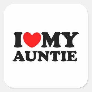 私は私の伯母さんを愛します スクエアシール