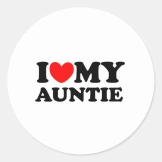私は私の伯母さんを愛します ラウンドシール
