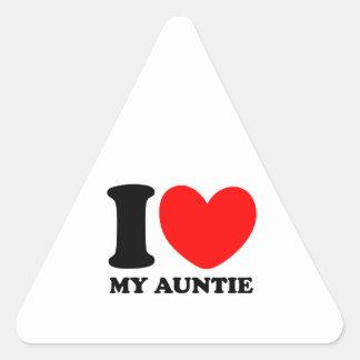 私は私の伯母さんを愛します 三角形シール