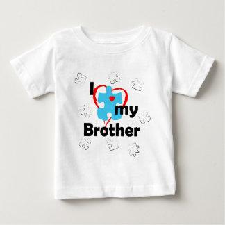 私は私の兄弟-自閉症--を愛します ベビーTシャツ