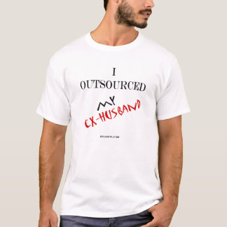 私は私の先夫を外部委託しました Tシャツ