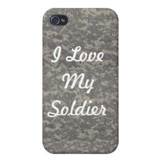 私は私の兵士のIphone 4ケースを愛します iPhone 4/4S Case