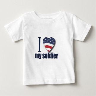 私は私の兵士を愛します ベビーTシャツ