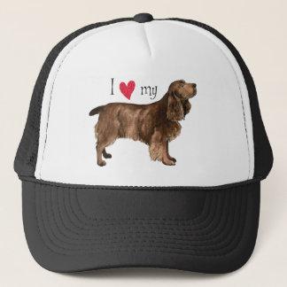 私は私の分野スパニエル犬を愛します キャップ