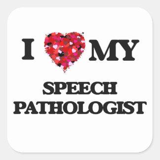 私は私の医療言語聴覚士を愛します スクエアシール