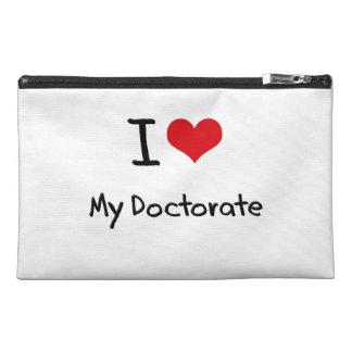 私は私の博士号を愛します トラベルアクセサリーバッグ