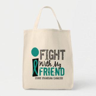 私は私の友人の卵巣癌と戦います トートバッグ