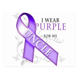 私は私の叔父さんのための紫色を身に着けています ポストカード