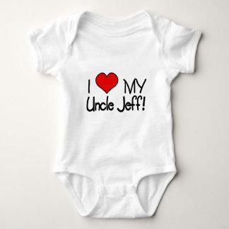 私は私の叔父さんを愛しますジェフ! ベビーボディスーツ