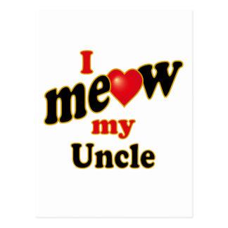 私は私の叔父さんニャーと鳴きます ポストカード