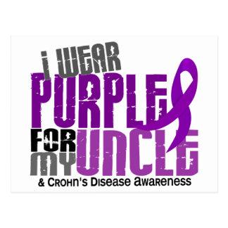 私は私の叔父さん6クローン病のための紫色を身に着けています ポストカード