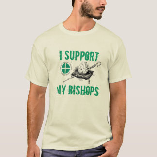 私は私の司教を支えます Tシャツ