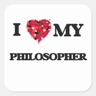 私は私の哲学者を愛します スクエアシール